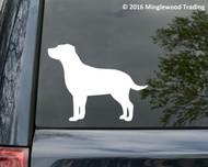 "Labrador Retriever Dog Yellow Black Lab Vinyl Decal Sticker 5"" x 4"" (curled)"
