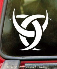 TRIPLE CRESCENT MOON - Vinyl Decal Sticker - Wiccan Symbol Goddess Witchcraft Woman *Free Shipping*