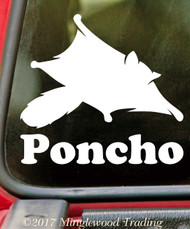 SUGAR GLIDER with Personalized Name - Vinyl Decal Sticker - Pocket Exotic Pet Possum