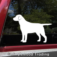 LABRADOR RETRIEVER Vinyl Sticker - Dog Puppy Chocolate Lab - straight tail - Die Cut Decal