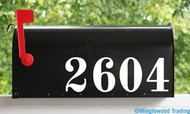"Vintage Style Mailbox Numbers - Vinyl Sticker - 1"" to 8"" tall - Name Home House Office Address - OLDS"