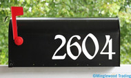"Gothic Style Mailbox Numbers - Vinyl Sticker - 1"" to 10"" tall - Name Home House Office Address - ROUS"