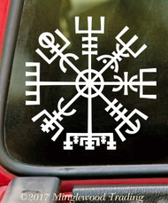 VIKING COMPASS Vinyl Sticker V1 - Norse Vegvisir Magic Rune Pagan - Die Cut Decal