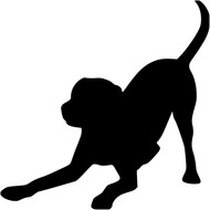 Playful Labrador Retriever Vinyl Decal Sticker - Lab Puppy Dog Rescue Adopt