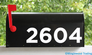 "Custom House or Mailbox Numbers Vinyl Sticker - 1"" to 10"" tall - Lettering Name Home Office Address - GOTH"