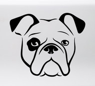 BULLDOG HEAD Vinyl Sticker -V1- English American Bully Dog Puppy - Die Cut Decal
