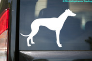 "Greyhound Dog Vinyl Decal Sticker - English Sighthound Italian 5"" x 3.5"""