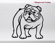 Bulldog vinyl die cut decal by Minglewood Trading