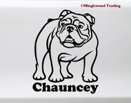 English bulldog vinyl die cut decal sticker by Minglewood Trading.