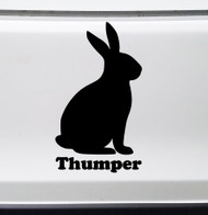 BUNNY RABBIT with Personalized Name Vinyl Sticker - Easter - Hare Cottontail - Die Cut Decal