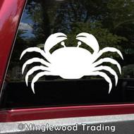 CRAB -V2- Vinyl Sticker - Crustacean Claws Beach Sea Creature King - Die Cut Decal *Free Shipping*