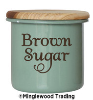 BROWN SUGAR Vinyl Sticker - Pantry Organization Kitchen Canister Label - Die Cut Decal - Swash