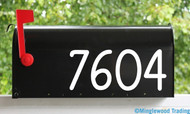 """Mailbox or House Numbers Vinyl Sticker - 1"""" to 8"""" tall - Custom Lettering Name Home Office Address - Die Cut Decal AUTHER"""