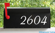"2 Sets of 3"" Custom Mailbox Numbers - Vinyl Die Cut Decals - 19 Style Choices"