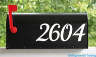 "2 Sets of 4"" Custom Mailbox Numbers - Vinyl Die Cut Decals - 19 Style Choices"