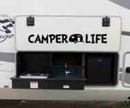 CAMPER LIFE Vinyl Sticker - Camper RV Travel Trailer 5th Wheel Camping - Die Cut Decal
