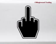 Middle Finger Vinyl Sticker - Hand Gesture - Die Cut Decal