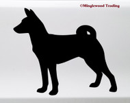 BASENJI Vinyl Sticker - Barkless Dog Puppy African - Die Cut Decal