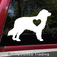 AUSTRALIAN SHEPHERD with HEART Vinyl Sticker -V2- Love Auss Aussie Dog Puppy - Die Cut Decal