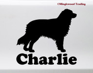 AUSTRALIAN SHEPHERD with Personalized Name Vinyl Sticker -V2- Auss Aussie Dog Puppy - Die Cut Decal