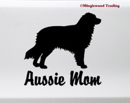 AUSSIE MOM Vinyl Sticker -V2- Australian Shepherd Auss Dog Puppy - Die Cut Decal