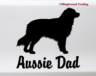AUSSIE DAD Vinyl Sticker -V2- Australian Shepherd Auss Dog Puppy - Die Cut Decal