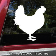 CHICKEN Vinyl Sticker - Hen Cluck Peck Farm Animal Rooster - Die Cut Decal