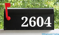 "Mailbox Numbers Vinyl Sticker - 1"" to 8"" tall - Custom House Lettering Name Home Office Address - Die Cut Decal DROID"