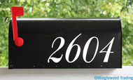 "Elegant Mailbox Numbers Vinyl Sticker - 1"" to 10"" tall - Custom House Home Office Address - Die Cut Decal BAL"