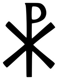 CHRISTOGRAM Vinyl Sticker - Jesus Christ Monogram Chi Rho Christian Church Chrismon - Die Cut Decal