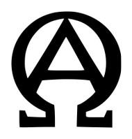 ALPHA OMEGA Vinyl Sticker - Christian Symbol Beginning End Sigil - Die Cut Decal