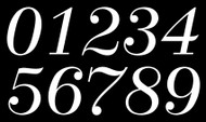 Fancy Die Cut Numbers - Vinyl Decals Stickers - 4 sets of 0-9 - Mailbox - DUCH