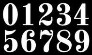 Vintage Die Cut Numbers - Vinyl Decals Stickers - 4 sets of 0-9 - Mailbox - OLDS