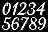 Calligraphy Die Cut Numbers - Vinyl Decals Stickers - 4 sets of 0-9 - Mailbox - KATHYA