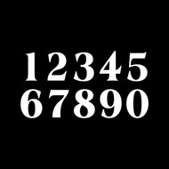 4 sets of Classic Die Cut Numbers 0-9 Vinyl Decals Stickers - Mailbox - AME