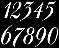 4 sets of Elegant Die Cut Numbers 0-9 Vinyl Decals Stickers - Mailbox - BAL