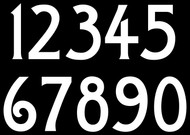 4 sets of Craftsman Die Cut Numbers 0-9 Vinyl Decals Stickers - Arts and Crafts - Mailbox - BAL