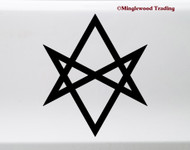 Unicursal Hexagram Vinyl Sticker - Occult Symbol - Die Cut Decal