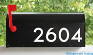 Modern Contemporary Style Mailbox Numbers Vinyl Sticker 1-8 inches tall Die Cut Decal -  NOIR