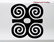 Dwennimmen Vinyl Sticker - Adinkra Strength Wisdom Symbol - Die Cut Decal