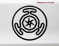 Hecate's Wheel vinyl die cut decal sticker by Minglewood Trading