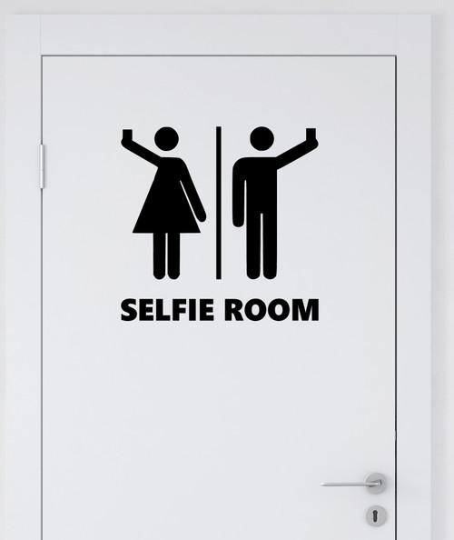 Selfie room bathroom restroom vinyl die cut decal sticker by Minglewood Trading