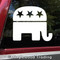 Republican Party elephant logo symbol - vinyl die cut decal sticker by Minglewood Trading.