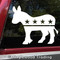 Democratic Party Donkey logo symbol - vinyl die cut decal sticker by Minglewood Trading.