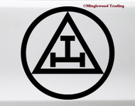Triple Tau Vinyl Sticker - Royal Arch Mason Emblem Symbol - Die Cut Decal