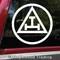 Triple Tau Vinyl Sticker - Royal Arch Mason Emblem Symbol - Die Cut Decal