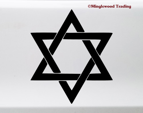 Seal of Solomon Vinyl Sticker - Hexagram Protection Symbol - Die Cut Decal