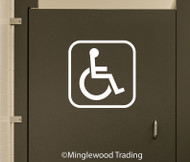 Handicap Accessible Bathroom Door Sign Vinyl Sticker - Wheelchair ADA - Die Cut Decal