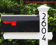 Vertical Modern Numbers - 1-10 inches - Custom House Address Mailbox Vinyl Sticker - Die Cut Decal - COPA