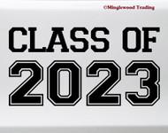 Class of 2023 Vinyl Sticker - Graduate High School College - Die Cut Decal